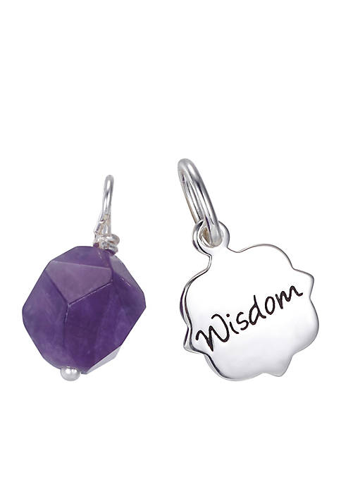 Belk Silverworks Southern Charm 2-Piece Amethyst Bead and