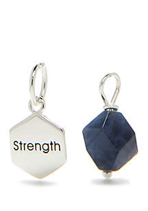 Southern Charm Sterling Silver Stone Stretch Charm