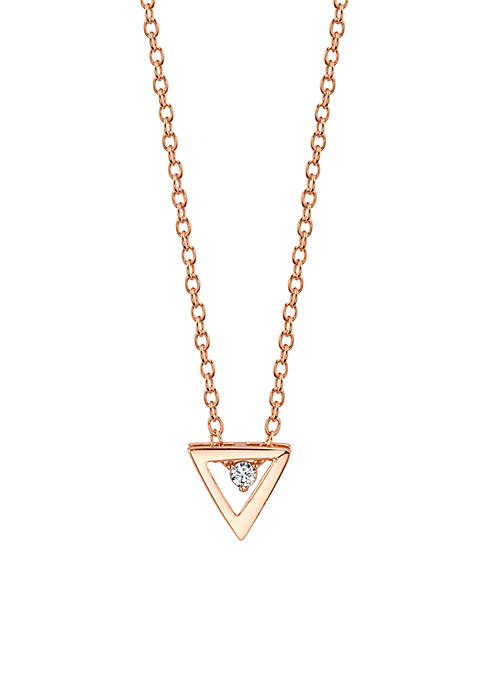 Belk Silverworks Sterling Silver Rose Gold Small Triangle