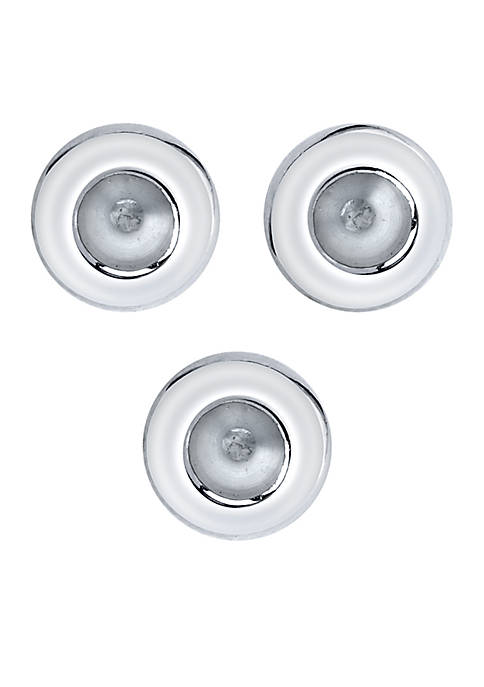 Southern Charm Sterling Silver Set of 3 Round Stoppers