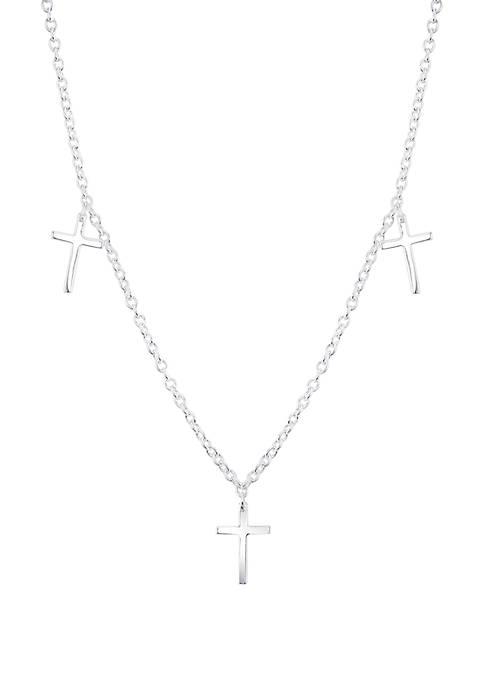 Belk Silverworks Sterling Cross Silver Necklace