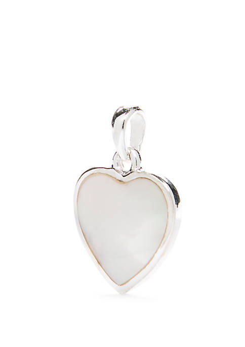 Southern Charm Mother Of Pearl Heart Placeholder Charm