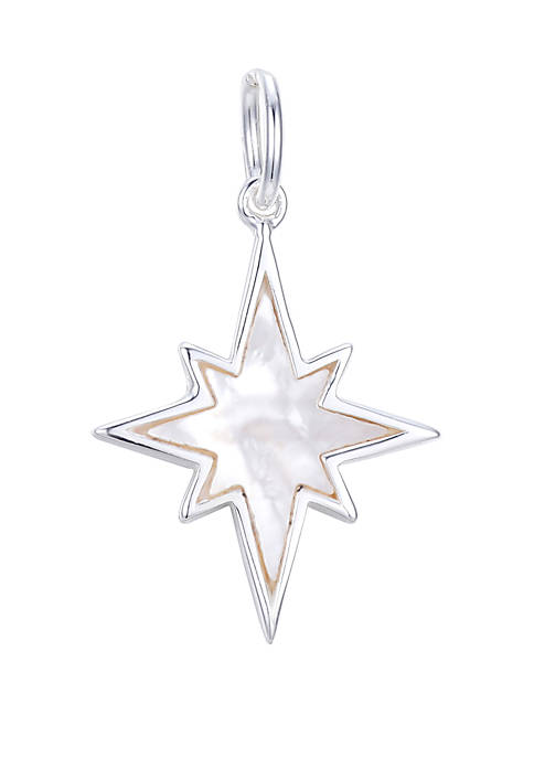 Southern Charm Sterling Silver Mother Of Pearl Star Inlay Charm