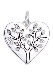 Belk Silverworks Southern Charm Heart Cubic Zirconia Tree of Life Charm