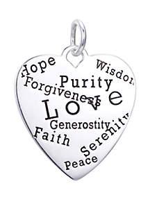 Belk Silverworks Southern Charm Love Forgiveness Heart Charm