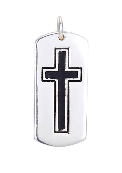 Southern Charm Sterling Silver Cross Tag Charm