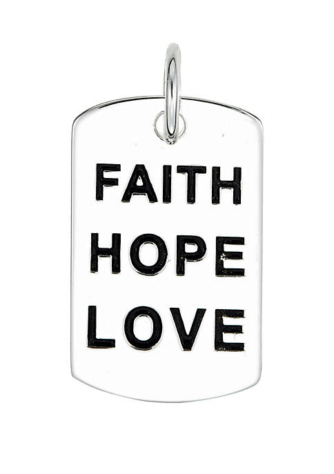 Belk Silverworks Southern Charm Sterling Silver Faith Hope