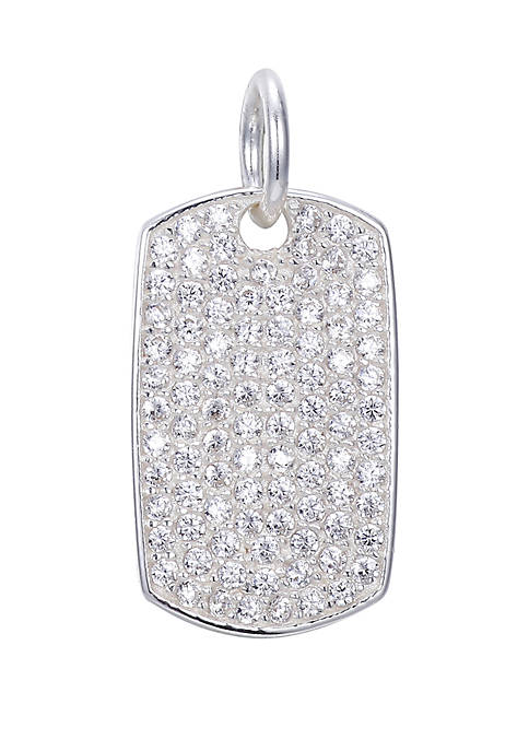 Belk Silverworks Southern Charm Cubic Zirconia Dog Tag