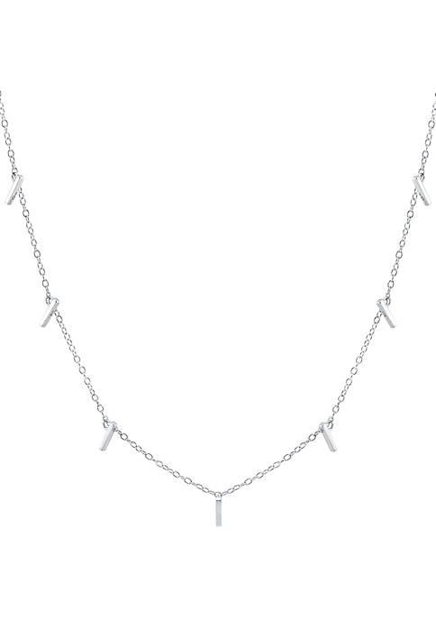 Belk Silverworks Sterling Bar Design Necklace