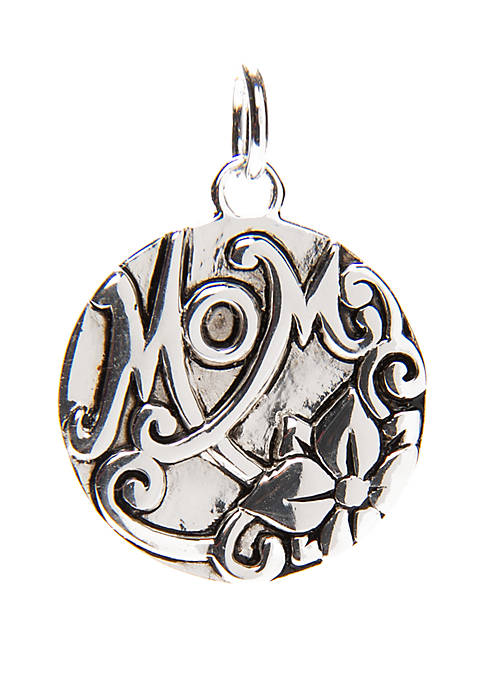 Mom Large Round Disc Charm