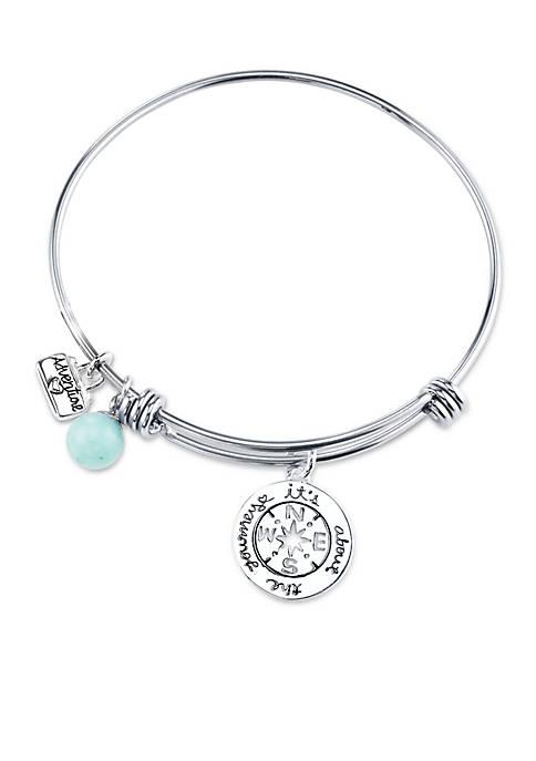 Belk Silverworks Lifes Moments Journey Bangle Bracelet