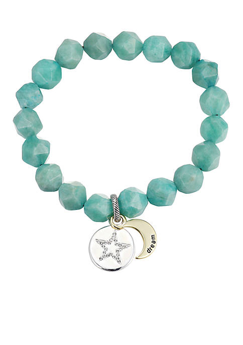 Belk Silverworks Silver Plated Faceted Amazonite Dream Crystal