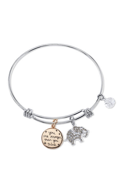 Belk Silverworks Adjustable Elephant Strong Bangle