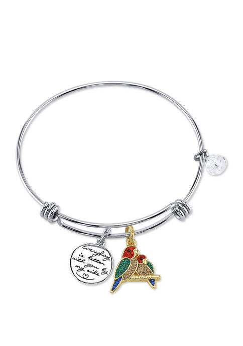 Belk Silverworks Adjustable Parrot Friendship Bangle