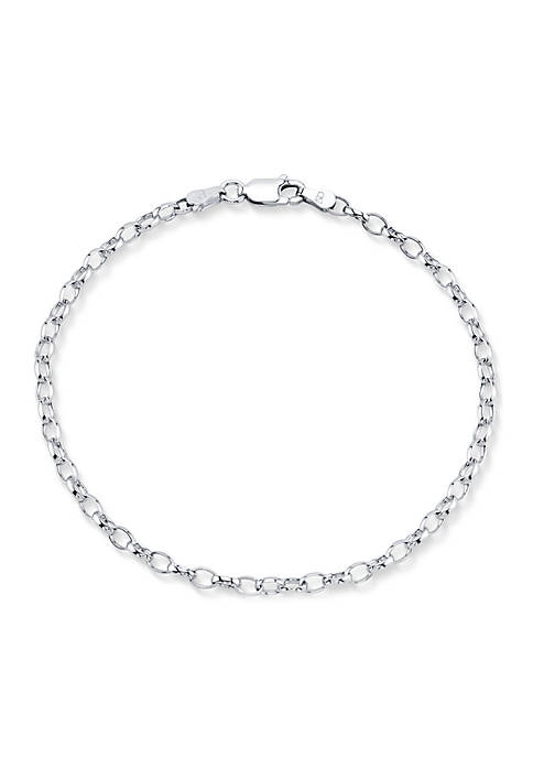 Southern Charm Sterling Silver Chain Link Bracelet
