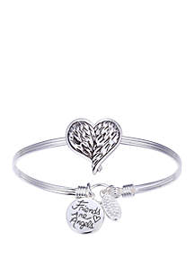 Friends Are Angels Heart Bangle