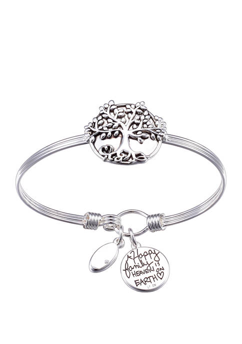 Belk Silverworks Family Tree Catch Bangle