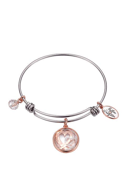 Belk Silverworks Adjustable Shaker Charm Bracelet