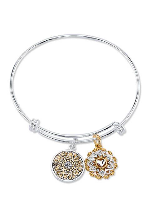 Belk Silverworks Adjustable Sister Coin Bangle