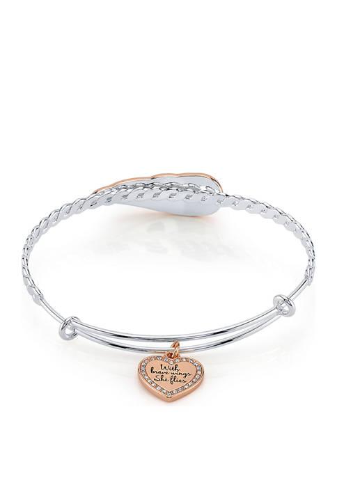 Belk Silverworks With Brave Wings Stainless Steel Bracelet