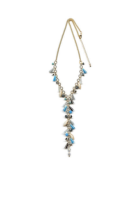 New Directions® Gold-Tone Beaded Drop Y Necklace