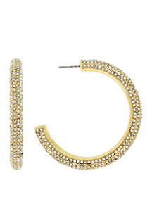 Gold-Tone Pace Post Hoop Earrings