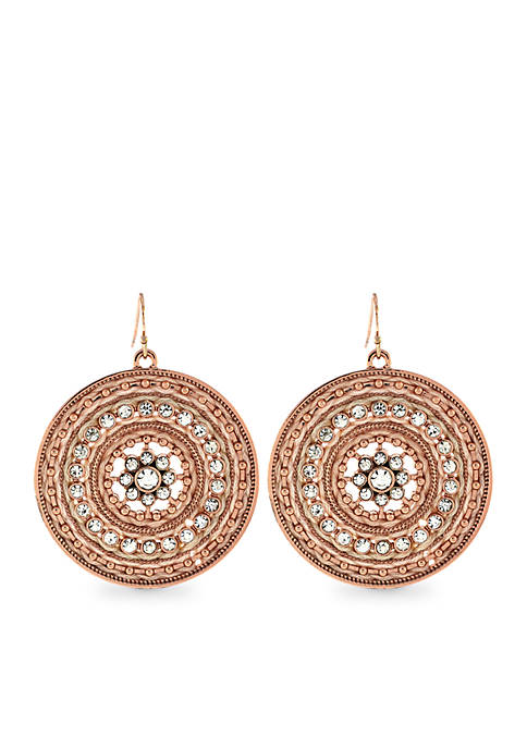 Jessica Simpson Around the Way Disc Drop Earrings