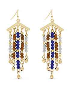 Jessica Simpson Gold-Tone Home Grown Chandelier Earrings