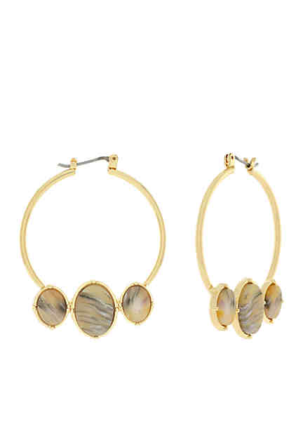 Jessica Simpson Gold Tone Hoop Earrings