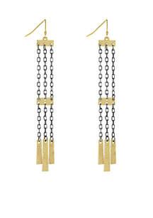 Gold Tone Linear Earrings