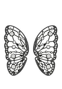 Butterfly Wing Post Button Earrings