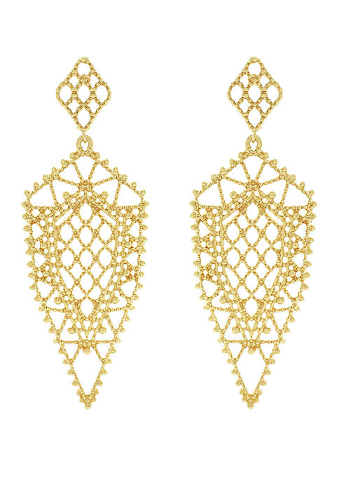 Filigree Dagger Drop Earrings