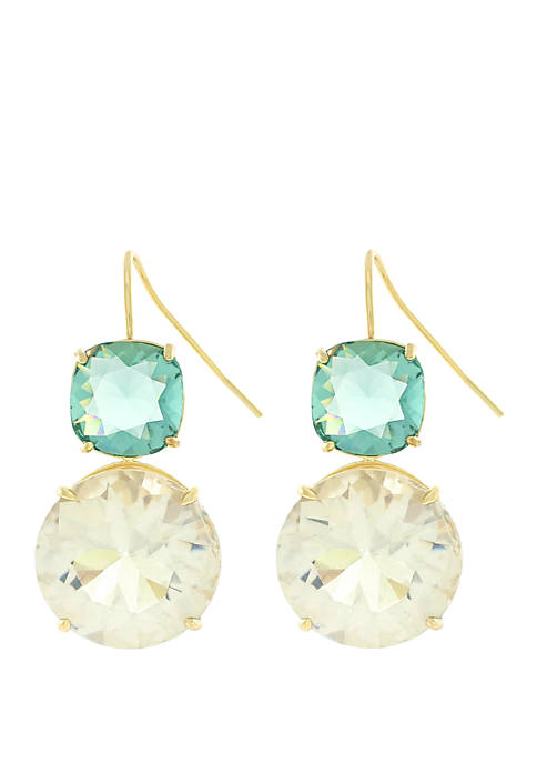 Jessica Simpson Double Stone Drop Earrings