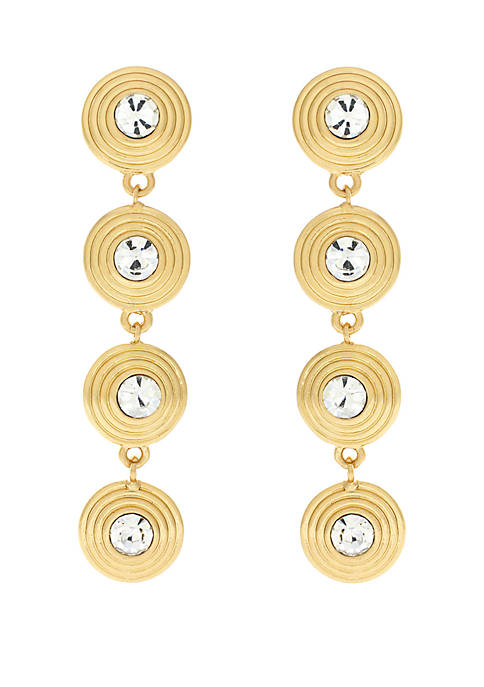 Jessica Simpson 4 Part Coil Linear Drop Earrings