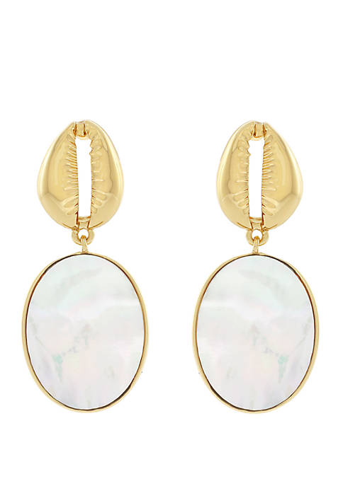 Jessica Simpson Shell and Mother of Pearl Drop