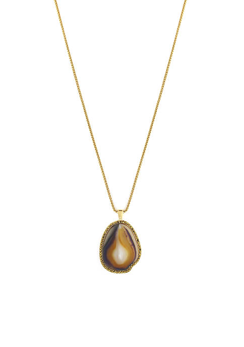 Jessica Simpson Gold-Tone Long Pendant Necklace