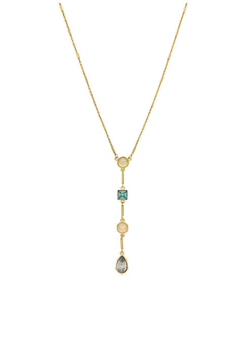Jessica Simpson Gold-Tone Opalescence Small Y Necklace