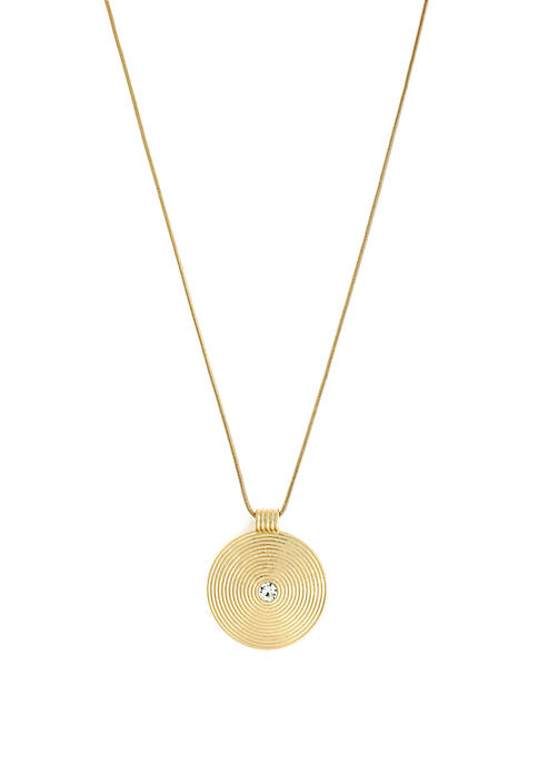 Jessica Simpson Necklace with Crystal Accent Pendant