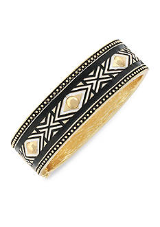 Jessica Simpson Gold-Tone Home Grown Tribal Hinge Bracelet
