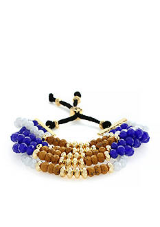 Jessica Simpson Gold-Tone Home Grown Fashion Multi-Strand Slider Bracelet