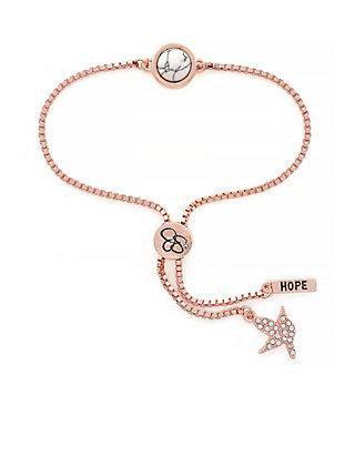 8d1898ace39 Jessica Simpson Rose Gold I Think Youll Pull Through White Stone Slider  Bracelet