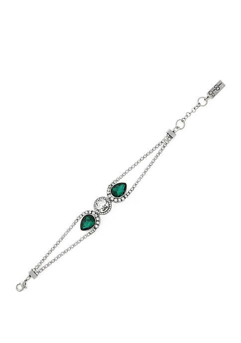 Green Crystal Line Bracelet