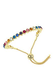 Rainbow Bezel Slider Bracelet