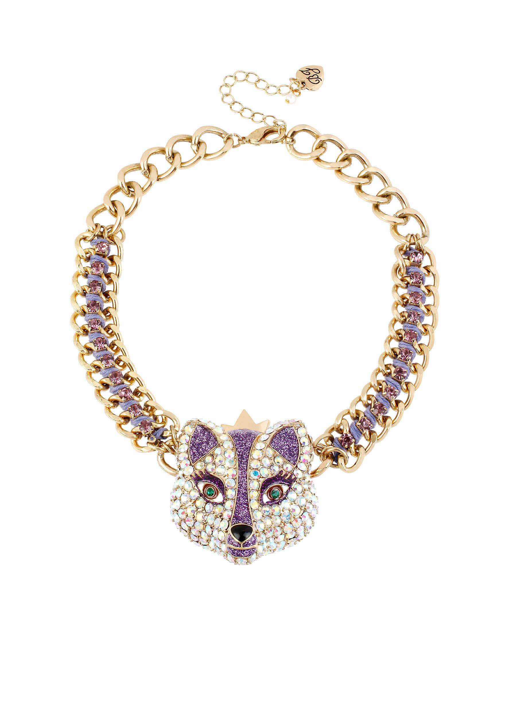 Betsey Johnson Fox Frontal Necklace | belk