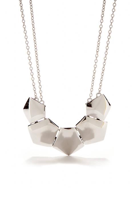 Polygon Silver-Tone Necklace