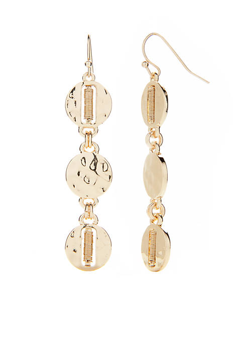 New Directions® Gold-Tone Coral Coast Linear Drop Earrings