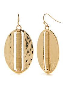 Gold-Tone Coral Coast Wrap Drop Earrings