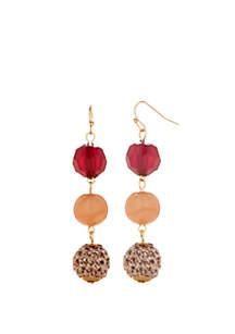 Gold-Tone Multi Drop Earrings