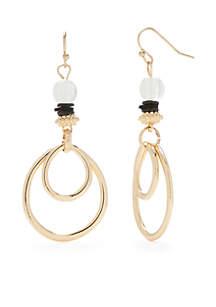 Gold-Tone Multi Hoop Earrings