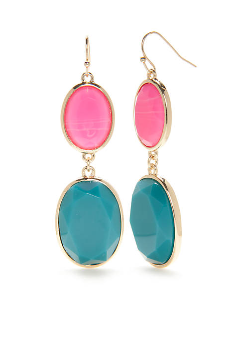 Gold-Tone Summer Brights Double Drop Earrings